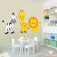 stickers for kids safari zebra giraffe and lion wall stickers
