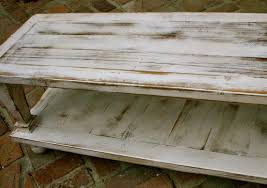 white vintage coffee table balustrade coffee table rustic wood distressed furniture