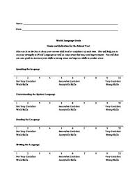 foreign language goal setting worksheets smart and actfl