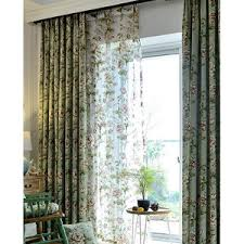 teal peacock luxury thermal soundproof embroidered curtains