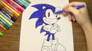 sonic the hedgehog coloring pages how to color sonic the