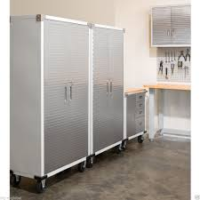 stainless steel garage cabinets design the better garages image of stainless steel garage cabinets photo