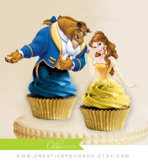 beauty and the beast cake topper beauty and beast cake kit