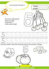 Kids Writing Worksheets Kindergarten Numbers Worksheet Bosschens
