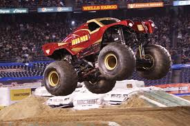 monster truck crash videos an iron man among monster trucks nj com