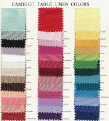 table cover rentals table linen color chart