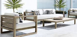 Patio Furniture And Decor Trend Bold Black And White - White outdoor sofa