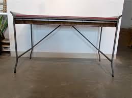 Campaign Style Desk Metro Modern Italian Campaign Style Leather Wood U0026 Metal Desk