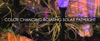 paradise rotating solar lights paradise garden lighting color changing rotating solar pathlights
