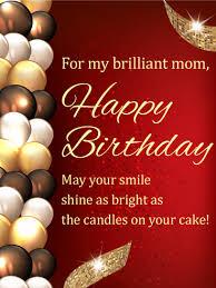 stylish birthday balloon card for mom birthday u0026 greeting cards