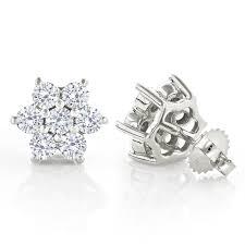 diamond earrings design 45 three carat diamond earrings 1 3 carat diamond stud earrings