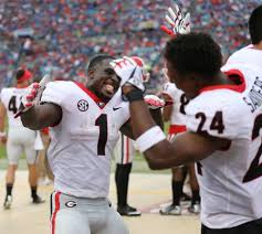 no 3 georgia thumps rival florida 42 7 in u0027cocktail party