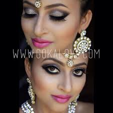 silver grey and black eye makeup indian stani wedding bridal makeup boston