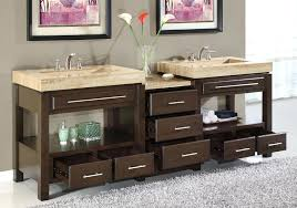 excellent double vanity with center tower photos best idea home