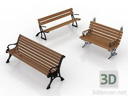 Model Bench 3d Model Bench In The Style Of Classicism Download For Free On