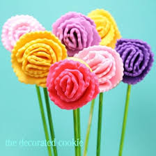 carnation flowers how to decorate carnation flower cookies on a stick for