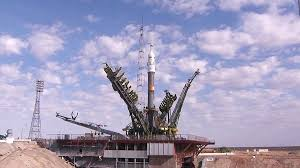 soyuz rocket rolls out before sept 2 crew launch space station