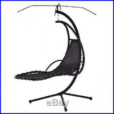 Hanging Chaise Lounge Chair Blue Hanging Chaise Lounge Chair Arc Stand Air Porch Swing Hammock