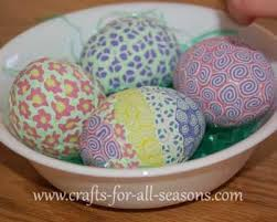 styrofoam easter eggs easter crafts