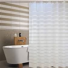 Simple Shower Curtains Simple Europe Plastic Shower Curtain White Striped Peva Curtains