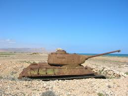 russian tanks by the beach socotra beaches yemen photo shared by