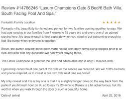 luxury champions gate villa testimonials u0026 reviews