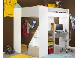 lit mezzanine avec bureau intégré lit mezzanine blanc design cosas lits mezzanine
