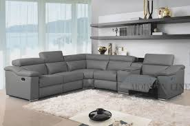 Modern Reclining Sectional Sofas Sofa Grey Leather Sectional Modern Leather Sectional With