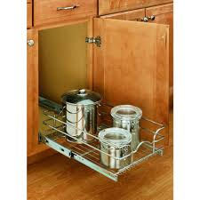 Kitchen Cabinet Pull Out Baskets Rev A Shelf 7 In H X 17 75 In W X 22 In D Base Cabinet Pull Out