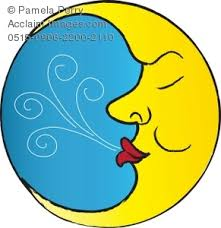moon clipart illustration of the in the moon sleeping