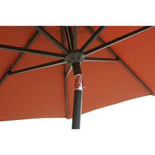 Aluminum Patio Umbrellas by Darlee 9 Ft Aluminum Auto Tilt Patio Market Umbrella Paprika