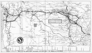 Union Pacific Railroad Map The Empire Builder James J Hill