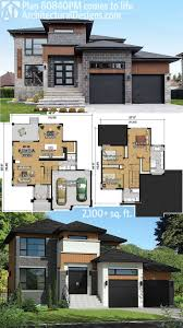 square footage of a house plan 80840pm multi level modern house plan modern house plans