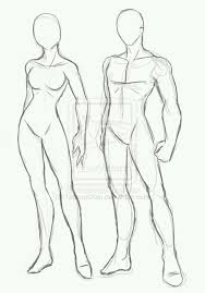 male and female anime models from deviantart anime drawing