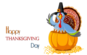 happy thanksgiving day falling leaves on turkey background hd