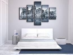 canvas decorations for home 5 pieces oil painting canvas prints landscape new york city home