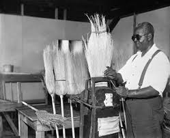 Blind Rehabilitation Florida Memory Visually Impaired Man Making Brooms At The Fera
