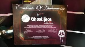 august 28th 2016 obtaining a silver 25 year ghostface mask