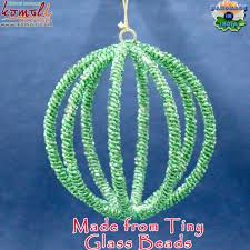 beaded wire ball bauble shape wholesale flat metal christmas