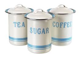 tin kitchen canisters jamie oliver vintage inspired coffee tea and sugar tin set home