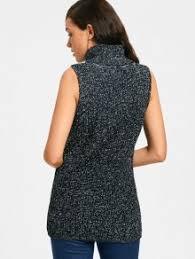 sweater vest turtleneck heathered sweater vest black sweaters one size zaful