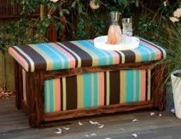 Outdoor Wooden Bench With Storage Plans by Outdoor Waterproof Storage Bench Foter