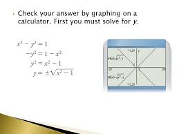 8 check your answer by graphing on a calculator first you must solve for y