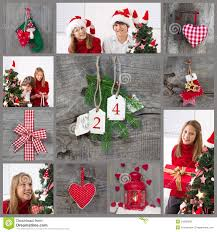classic christmas decoration in red checked and green with child