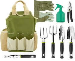 amazon com vremi 9 piece garden tools set gardening tools with