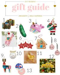 the hello happiness gift guide all the ornaments