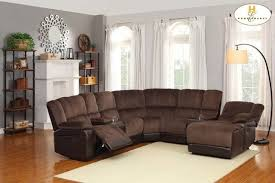 Brown Sectional Sofa With Chaise Microfiber Sectional Sofa With Recliner And Chaise Www Napma Net