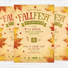 fall festival flyer templates free template design