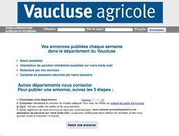 chambre d agriculture 84 annonces légales un nouveau service proposé par vaucluse agricole