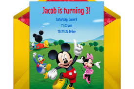mickey mouse clubhouse party mickey mouse clubhouse party online invitation disney family